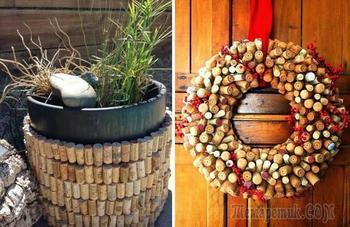 30 красивых поделок для дома из винных пробок