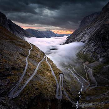 Прекрасные природные пейзажи, укутанные туманом