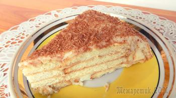 Торт из печенья и творога со сгущенкой без выпечки