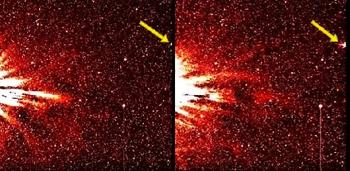 Наше Солнце реагирует на сигнал, исходящий от огромного мигающего космического объекта