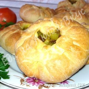 Пирожки с мясным фаршем и картофелем. Вкусное тесто и ароматная начинка!