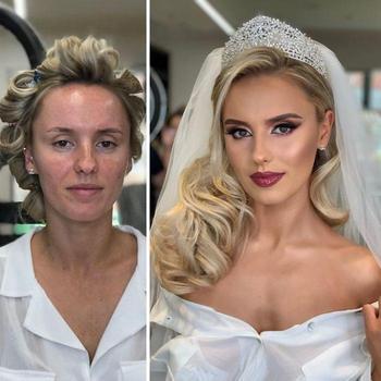 25 невест до и после свадебного макияжа, которые доказывают, что макияж творит чудеса