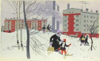 Города и сёла на картинах советских художников