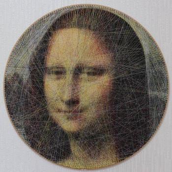 Классические произведения искусства, воссозданные с помощью ниток и математического алгоритма