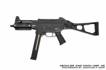 Самое мощное стрелковое оружие, пистолет-пулемёт UMP45 под патрон 45 ACP