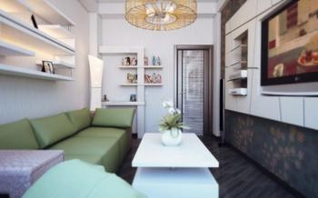 Маленькая гостиная — фото дизайна интерьера