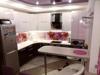 Кухня: орхидеи, сирень и Париж