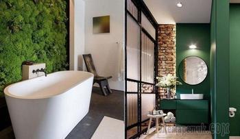 25 способов сделать стильную ванную комнату, всего лишь добавив зелёного