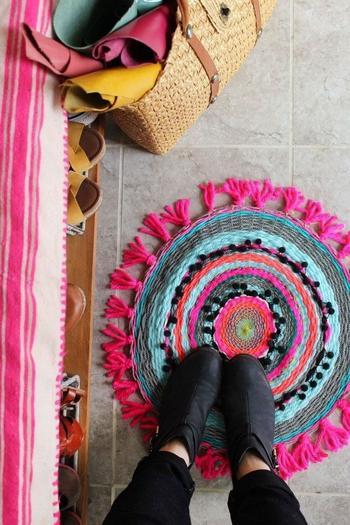 Тканый коврик своими руками