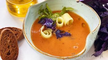 Гаспачо - легендарный испанский холодный томатный суп за 10 минут