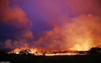 Аэросъемка последствий извержения вулкана Килауэа наГавайях
