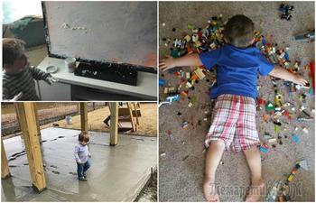 Смешные фотографии, на которых запечатлены все «прелести» жизни с детьми