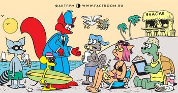 Кто же из милых зверушек ограбил магазин на пляже?