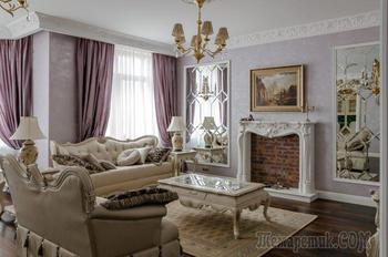 Интерьер квартиры в классическом стиле 137 кв. м.