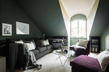 Уютная современная квартира под крышей в Стокгольме (93 кв. м)