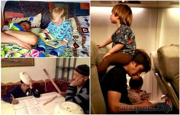 19 забавных фотографий о том, как умеют проводить время с детьми только папы