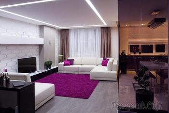 Стильный интерьер двухкомнатной квартиры (80 кв. м)