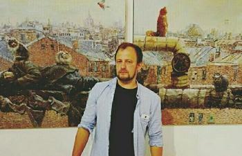 Философско-сатирические картины о современных российских реалиях художника Андрея Шатилова
