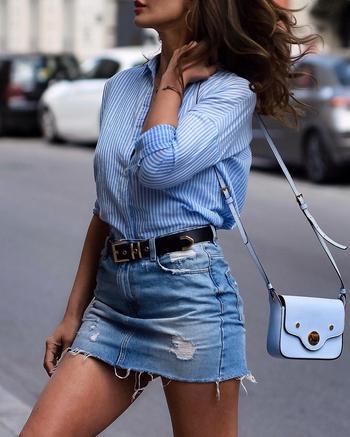 Как и с чем носить джинсовую юбку, чтобы выглядеть безупречно: 17 крутых идей