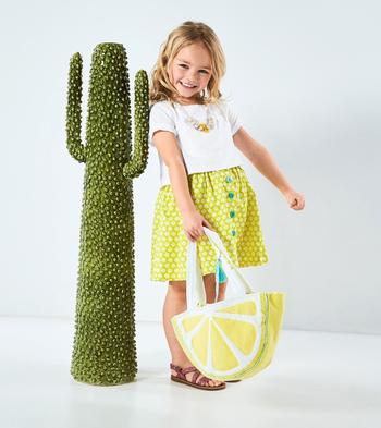 Детская сумочка в виде лимонной дольки