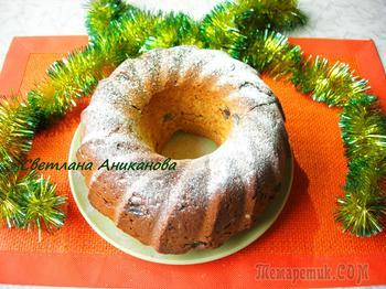 Имбирный кекс с изюмом и цукатами