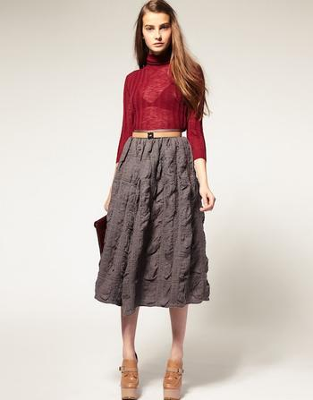 Какой должна быть зимняя юбка?