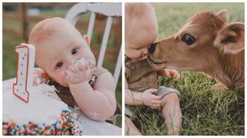 Единение с природой: чудесная фотосессия на первый день рождения малыша