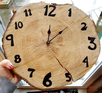 60 чудесных примеров настенных часов, которые вы захотите сделать