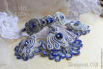Вышиваем свадебное сутажное колье «Прибой»