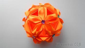 Новогодний шар из бумаги Кусудама. Оригами поделки на Новый год 2018