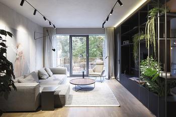 Современная квартира в спокойных тонах в Юрмале