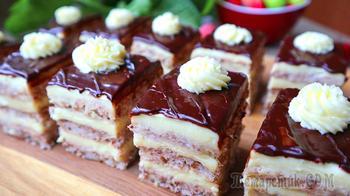 Ореховое пирожное – тает во рту! Вкуснее, чем в магазине!