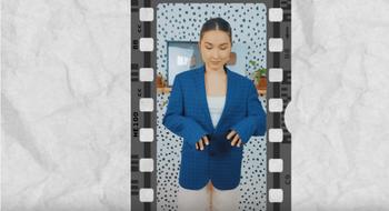 Превращаем мужской пиджак в оригинальный женский костюм