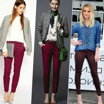 Как правильно носить вещи бордового цвета