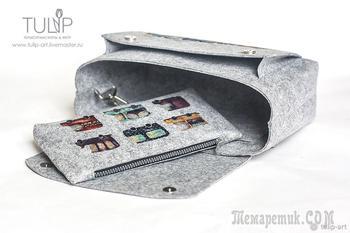 Шьем сумку-органайзер со съемным отделением и множеством карманов