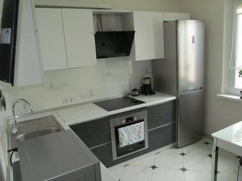 Кухня: монохромный интерьер
