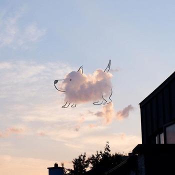 Смешные рисунки на облаках