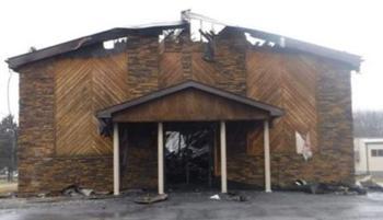 Пожар в церкви чудом не тронул библии и деревянные кресты