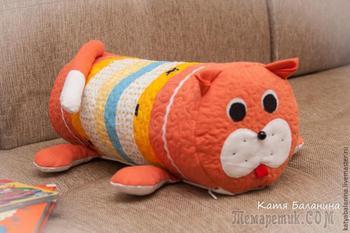 Шьем полезную подушку-игрушку «кот»