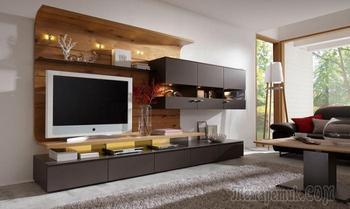 20 великолепных примеров модульных систем, которые оживят зону для просмотра телевизора
