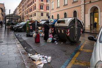 Мусор в Вечном городе Рим не справляется со своими отходами