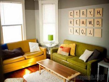 15 простых идей декора стен своими руками
