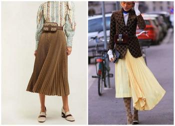 С чем носить плиссированную юбку этой зимой