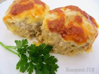 Картофельно-мясные котлеты в духовке