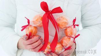Что подарить на новый год своими руками? Венок из мандаринов
