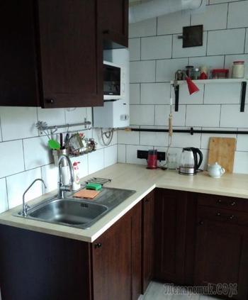 Кухня, объединенная с гостиной, в хрущевке