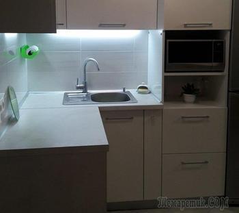 """Моя кухня: живая зеленая """"стена"""" и аквариум"""