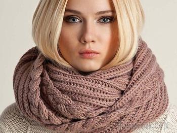 5 способов, как связать круговой шарф спицами: схемы, описание