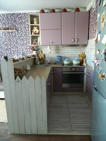 Кухня с необычными решениями