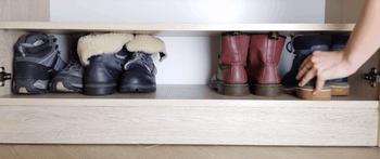 Варианты компактного размещения обуви